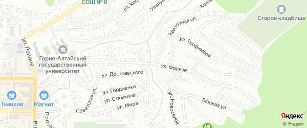 Улица Фрунзе на карте Горно-Алтайска с номерами домов