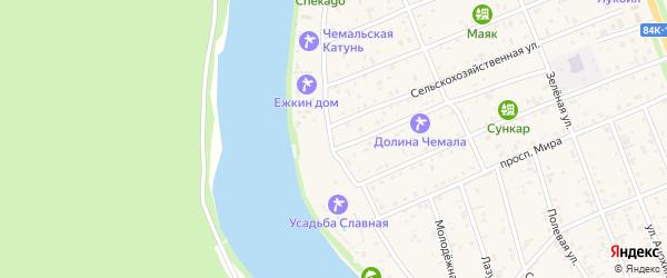 Прикатунская улица на карте села Чемал Алтая с номерами домов