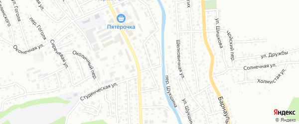 Гардинный переулок на карте Горно-Алтайска с номерами домов