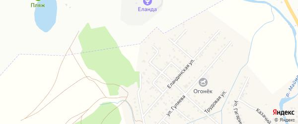 Улица Дружбы на карте села Кызыла-Озька Алтая с номерами домов