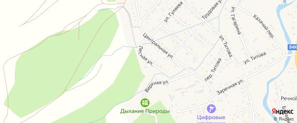 Лесная улица на карте села Кызыла-Озька Алтая с номерами домов