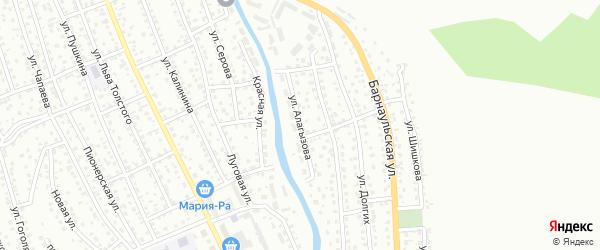 Улица Алагызова на карте Горно-Алтайска с номерами домов