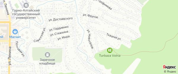 Улица Новоселов на карте Горно-Алтайска с номерами домов