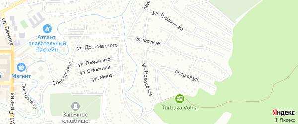 Дачная улица на карте Горно-Алтайска с номерами домов