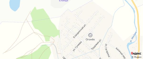 Янтарная улица на карте села Кызыла-Озька Алтая с номерами домов