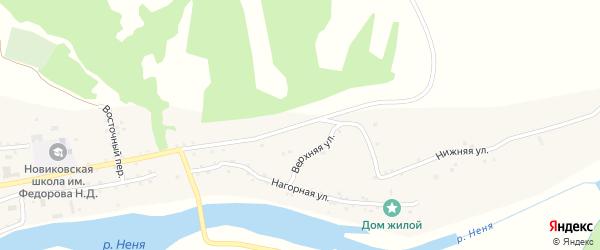 Верхняя улица на карте села Новиково с номерами домов