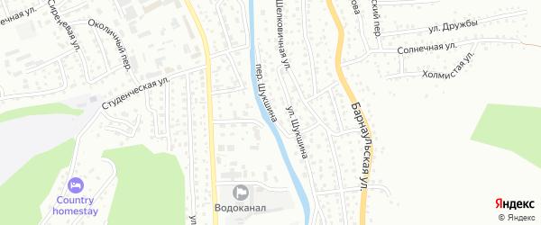 Переулок Шукшина на карте Горно-Алтайска с номерами домов
