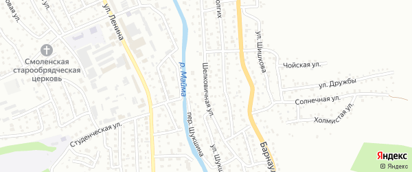 Шелковичная улица на карте Горно-Алтайска с номерами домов