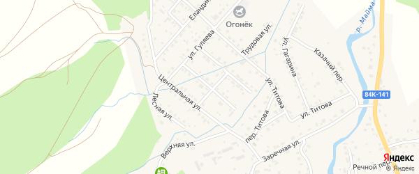 Майминская улица на карте села Кызыла-Озька Алтая с номерами домов
