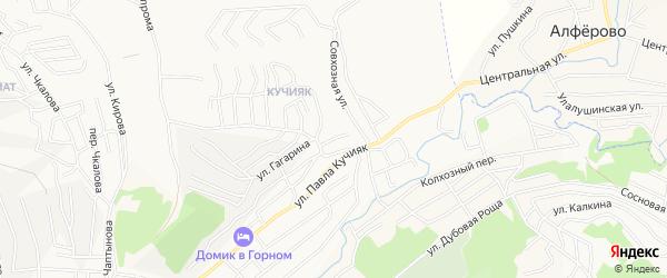 Тугаинский ГСК на карте Горно-Алтайска с номерами домов