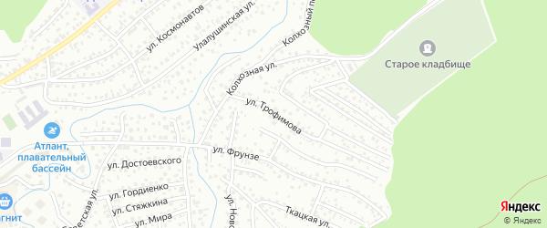 Улица Трофимова на карте Горно-Алтайска с номерами домов