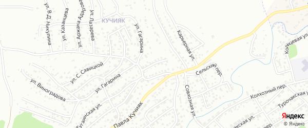 Тугаинский переулок на карте Горно-Алтайска с номерами домов