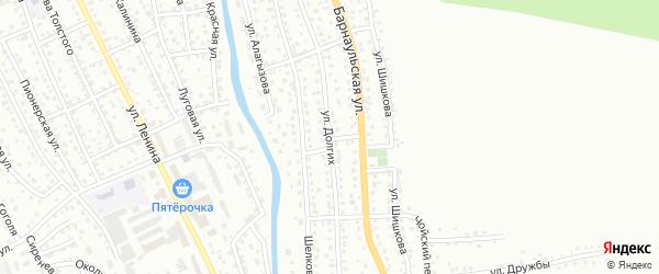 Улица Долгих на карте Горно-Алтайска с номерами домов