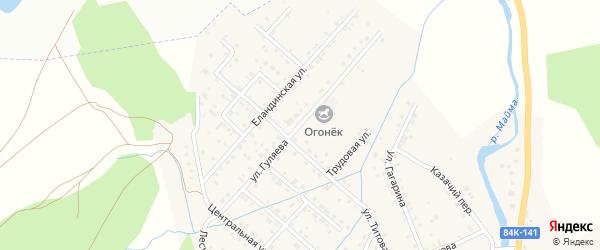 Улица Гуляева на карте села Кызыла-Озька Алтая с номерами домов