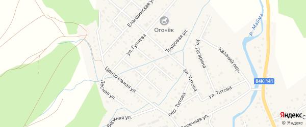 Олимпийская улица на карте села Кызыла-Озька Алтая с номерами домов