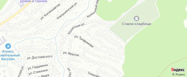 Переулок Трофимова на карте Горно-Алтайска с номерами домов