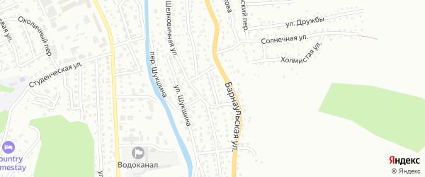 Мельничный переулок на карте Горно-Алтайска с номерами домов