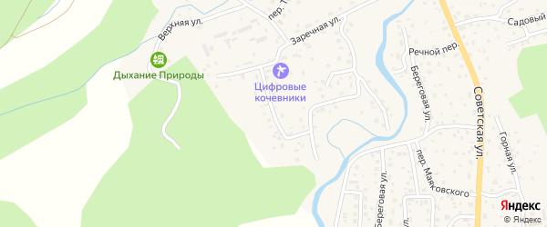 Солнечный переулок на карте села Кызыла-Озька Алтая с номерами домов