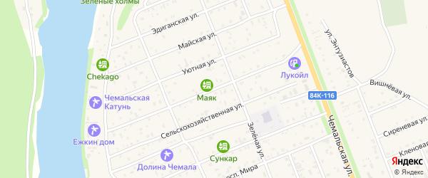 Улица Автомобилистов на карте села Чемал Алтая с номерами домов