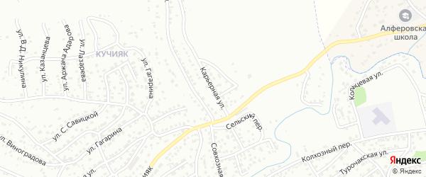 Карьерная улица на карте Горно-Алтайска с номерами домов