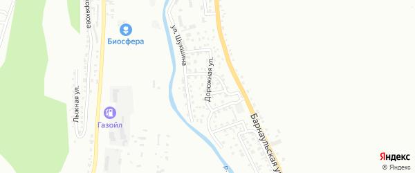 Дорожная улица на карте Горно-Алтайска с номерами домов