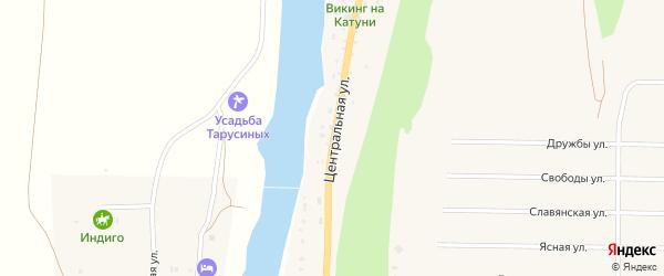 Центральная улица на карте села Элекмонар Алтая с номерами домов