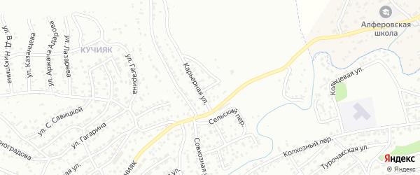 Карьерный переулок на карте Горно-Алтайска с номерами домов
