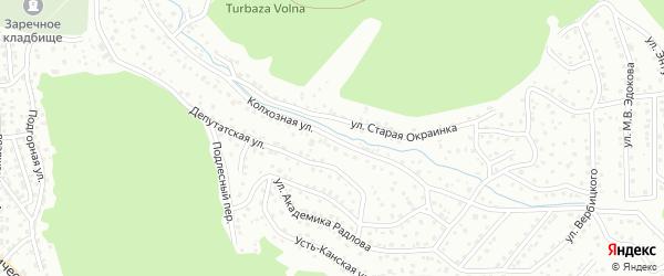 Колхозная улица на карте Горно-Алтайска с номерами домов