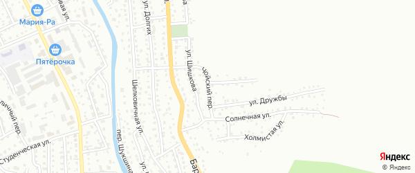 Чойский переулок на карте Горно-Алтайска с номерами домов