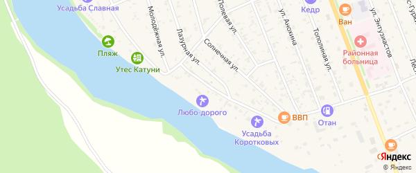 Набережная улица на карте села Чемал Алтая с номерами домов