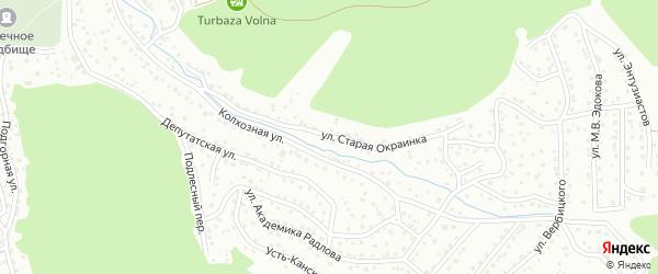 Улица Старая окраинка на карте Горно-Алтайска с номерами домов