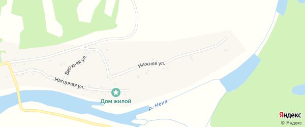 Нижняя улица на карте села Новиково с номерами домов