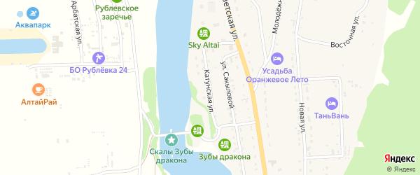 Катунская улица на карте села Элекмонар Алтая с номерами домов