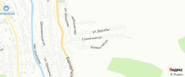 Солнечная улица на карте Горно-Алтайска с номерами домов