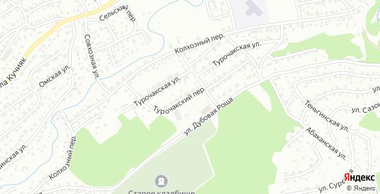 Турочакский переулок в Горно-Алтайске с номерами домов на карте. Спутник и схема онлайн