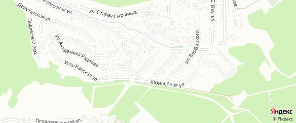 Переулок Анохина А.В. на карте Горно-Алтайска с номерами домов