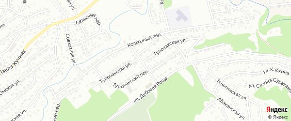 Турочакская улица на карте Горно-Алтайска с номерами домов