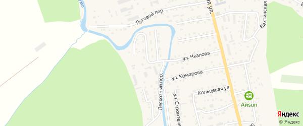 Лесхозная улица на карте села Кызыла-Озька Алтая с номерами домов