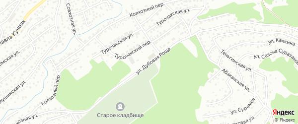 Улица Дубовая Роща на карте Горно-Алтайска с номерами домов