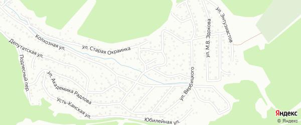Пикетный переулок на карте Горно-Алтайска с номерами домов