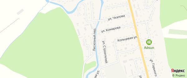 Лесхозный переулок на карте села Кызыла-Озька Алтая с номерами домов