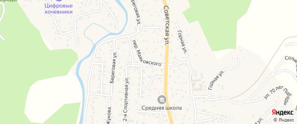 Улица Маяковского на карте села Кызыла-Озька Алтая с номерами домов