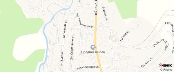 Улица Валетова на карте села Кызыла-Озька Алтая с номерами домов