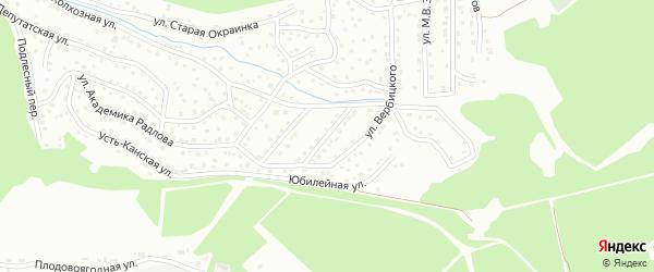 Татанакский переулок на карте Горно-Алтайска с номерами домов