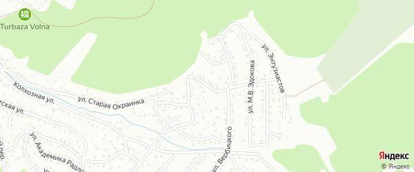 Переулок Вербицкого на карте Горно-Алтайска с номерами домов