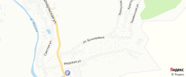 Улица Бочкаревка на карте Горно-Алтайска с номерами домов