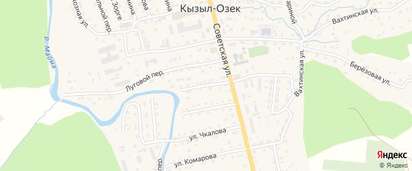 Мирный переулок на карте села Кызыла-Озька Алтая с номерами домов