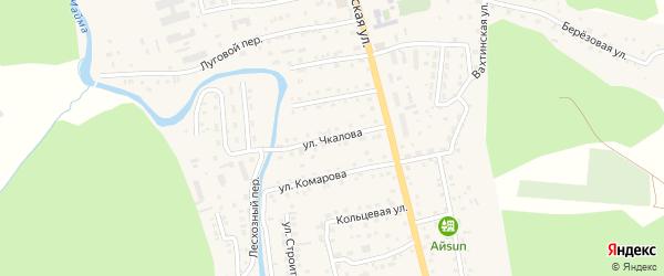 Улица Чкалова на карте села Кызыла-Озька Алтая с номерами домов