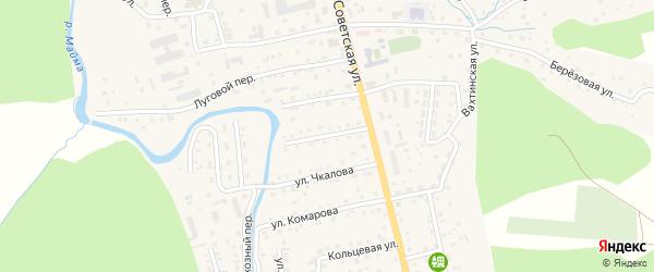 Больничный переулок на карте села Кызыла-Озька Алтая с номерами домов