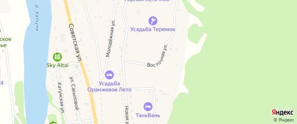 Восточная улица на карте села Элекмонар Алтая с номерами домов
